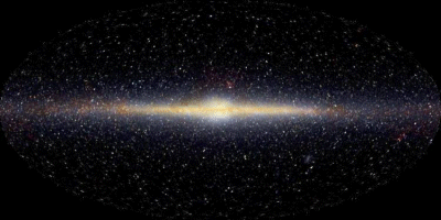Sl. 2. Mliječna Staza kako ju vidi COBE.