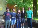 Filip, Petar, Mateja i Benjamin s mentorom Markom Vargovićem.