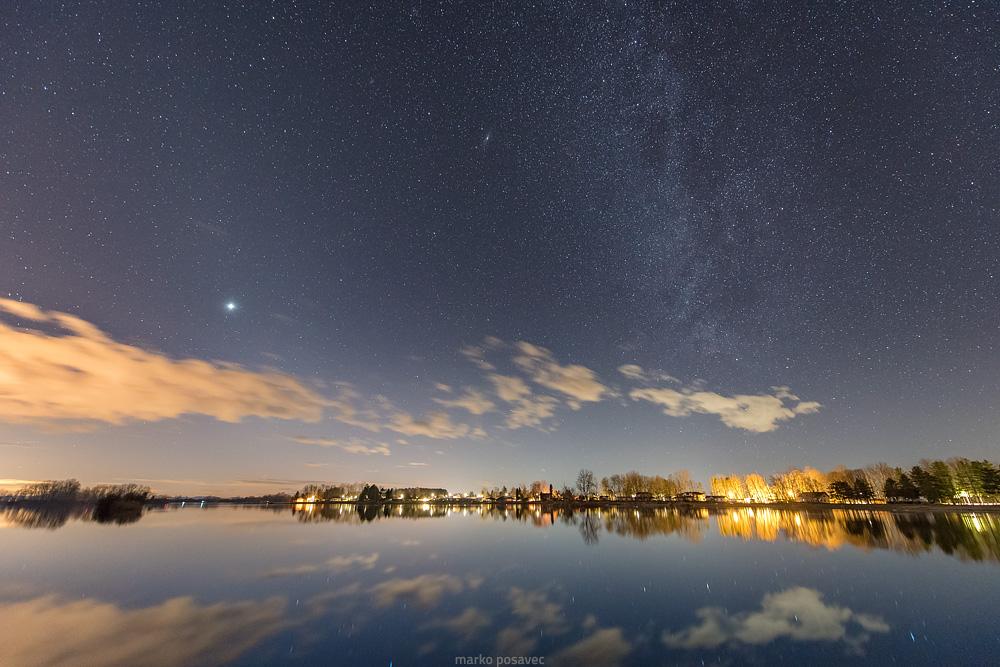 Zodijačka svjetlost, Venera i Mliječna staza, 14.2.2020.