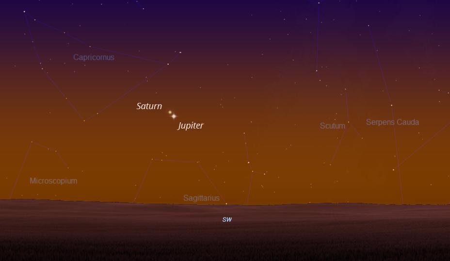 Jupiter i Saturn 14.12.2020.